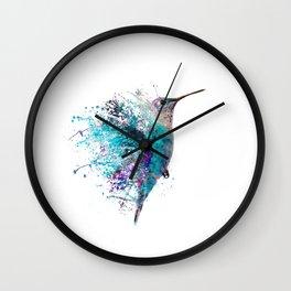 HUMMING BIRD SPLASH Wall Clock
