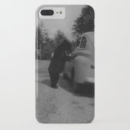 Mr. Bear goes to work iPhone Case