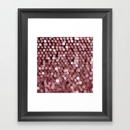 BOKEH PINK Framed Art Print