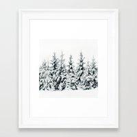 snow Framed Art Prints featuring Snow Porn by Tordis Kayma