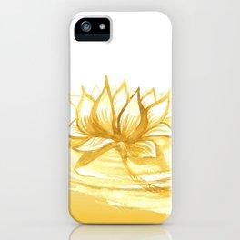 The Golden Lotus iPhone Case