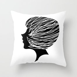 Head Throw Pillow