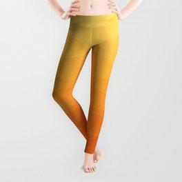 Orange and yellow ombre polygonal geometric pattern Leggings