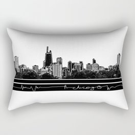 chicago skyline Rectangular Pillow