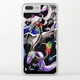 Queer Dragons Clear iPhone Case