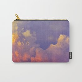 Purple Pastel Clouds Fluffy Cotton Candy Whimsical Fairytale Sky Carry-All Pouch