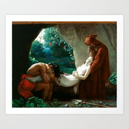 Anne-Louis Girodet de Roucy-Trioson Burial of Atala Art Print