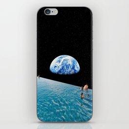 Moon swimming pool iPhone Skin