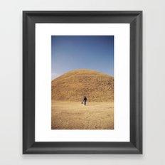 Gyeongju burial ground Framed Art Print