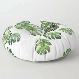 Monstera Garland  Floor Pillow