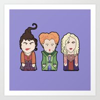 hocus pocus Art Prints featuring Hocus Pocus by Big Purple Glasses