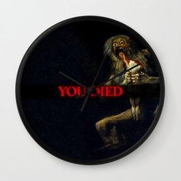 You Died Dark Soul Wall Clock
