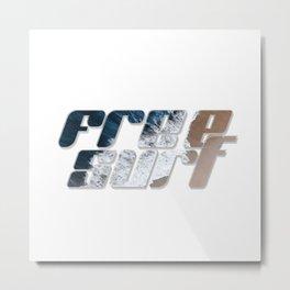 Free Surf Metal Print