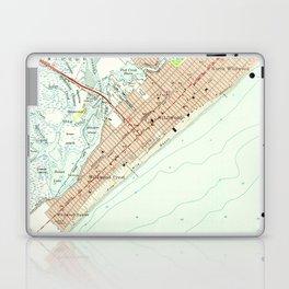 Vintage Map of Wildwood NJ (1955) Laptop & iPad Skin
