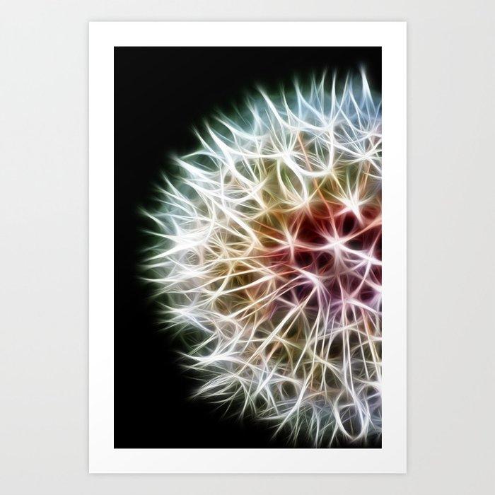 Fractal dandelion Art Print