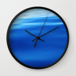 Dolphin and blues Wall Clock