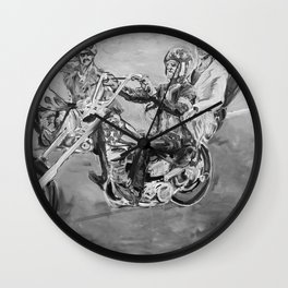 Easy rider black and white Wall Clock