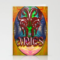 zodiac Stationery Cards featuring Aries Zodiac by CAP Artwork & Design
