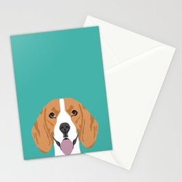 Beagle dog head cute pet portrait beagles lovers pure breed dog gifts Stationery Cards