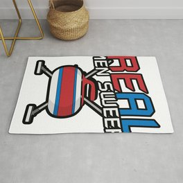 Real Men Sweep Curler Winter Sport Rug