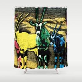 Gazelles Shower Curtain