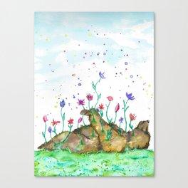Creation of Bear Canvas Print