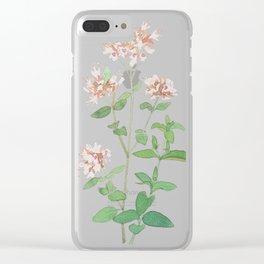 Oregano flower Clear iPhone Case