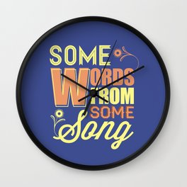 Some Song Wall Clock