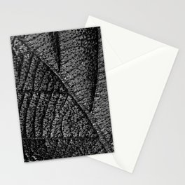 Black leaf with abstract patterns and details Stationery Cards