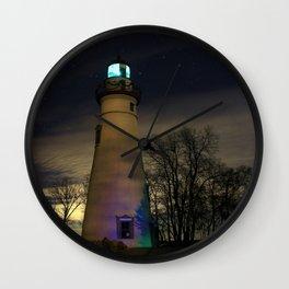 Marblehead at Night Wall Clock