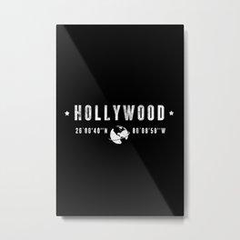 Hollywood geographic coordinates Metal Print