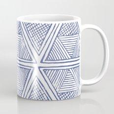 Blue Triangles  Mug