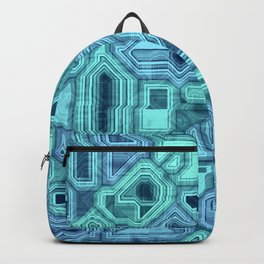 Blue circuitry Backpack