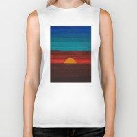 sunset Biker Tanks featuring Sunset by sinonelineman