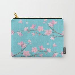 Cherry Blossom - Robin Egg Blue Carry-All Pouch