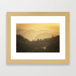 Black Balsam Sunrise  Framed Art Print