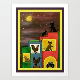 """""""Moonlight & Silhouettes (i)"""" by ICA PAVON Art Print"""