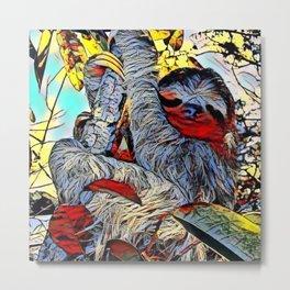 Color Kick -Sloth Metal Print