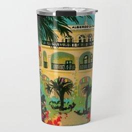 Vintage Capri, Italy Seaside Hotel Albergo La Palma Advertising Poster Travel Mug