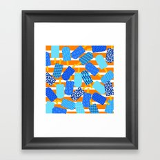 Santorini Popsicles Framed Art Print