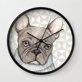 French style - French Bulldog Wall Clock