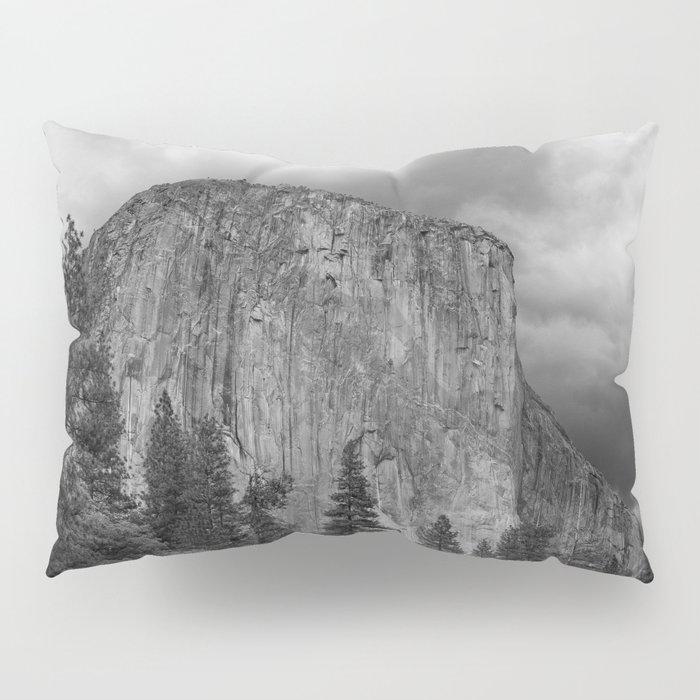 Yosemite National Park, El Capitan, Black and White Photography, Outdoors, Landscape, National Parks Pillow Sham