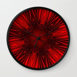 Pleated Red Wall Clock
