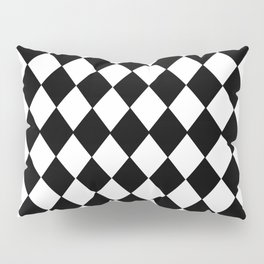 HARLEQUIN BLACK AND WHITE PATTERN #2 Pillow Sham