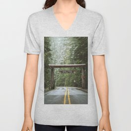 Sign, Mt. Rainier Unisex V-Neck