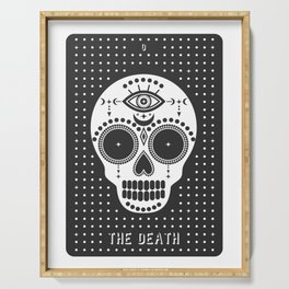 Minimal Tarot Deck The Death Serving Tray
