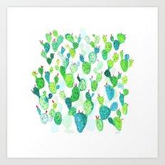 Watercolour Cacti Art Print