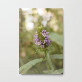 Light Purple Vintage Flowers Metal Print
