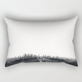 Cabins in the Mist Rectangular Pillow