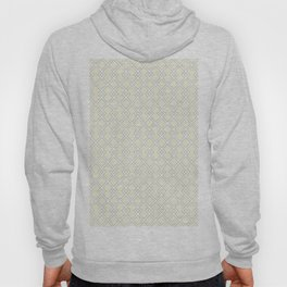 Beige White Diamond Pattern Hoody